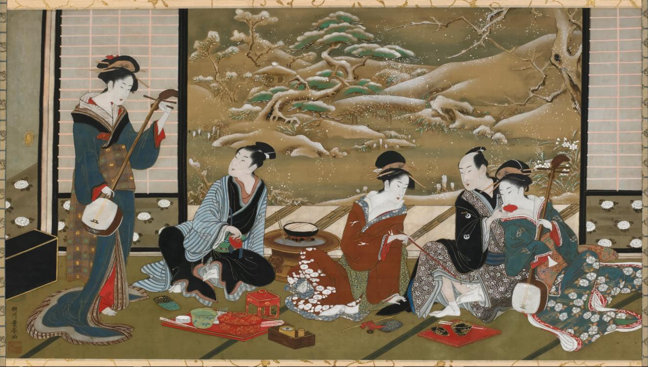 Art,Geisha,Modern Art