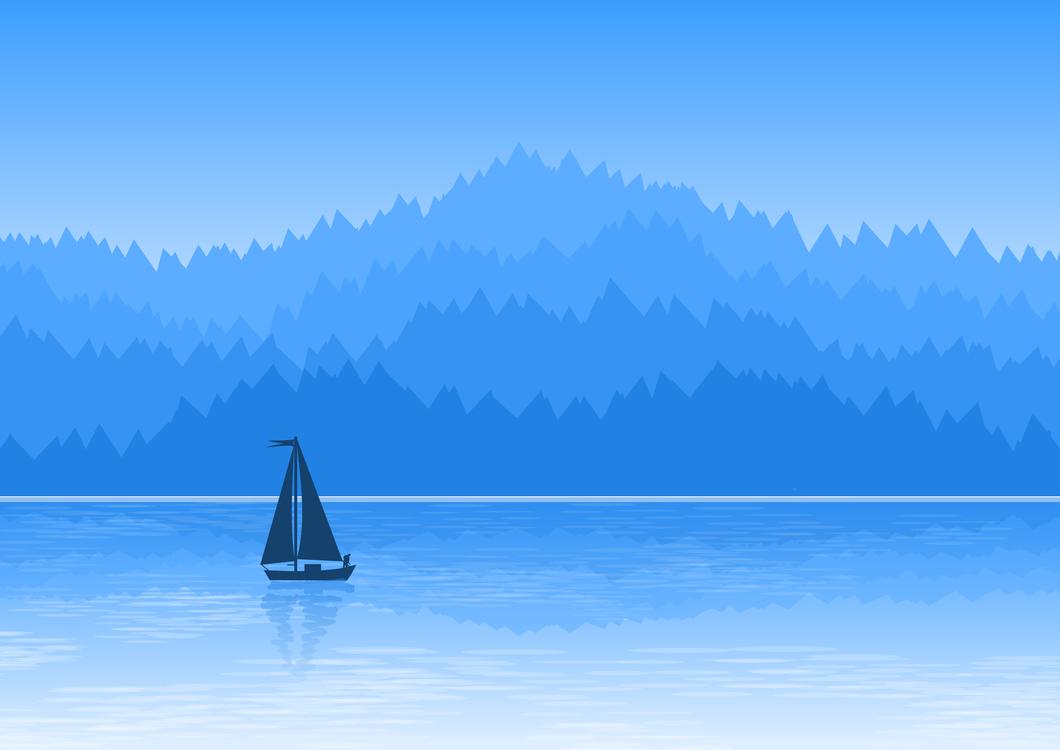 Blue,Landscape,Watercraft