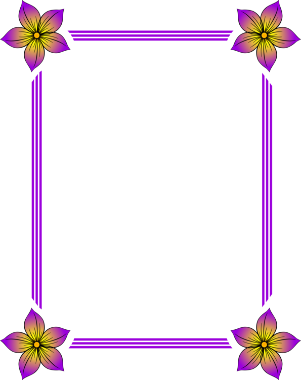 Purple,Picture Frame,Flower