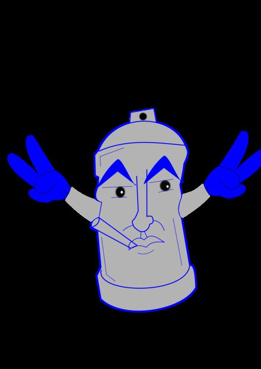 Head,Art,Electric Blue