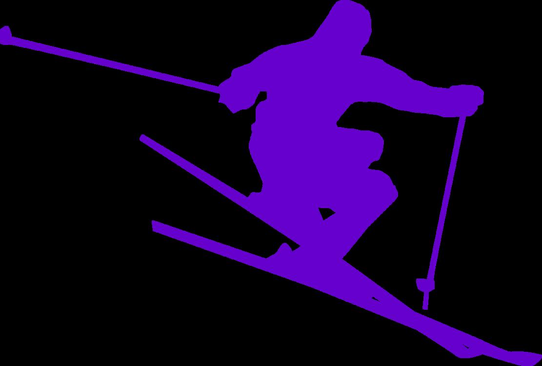 Silhouette,Purple,Freestyle Skiing