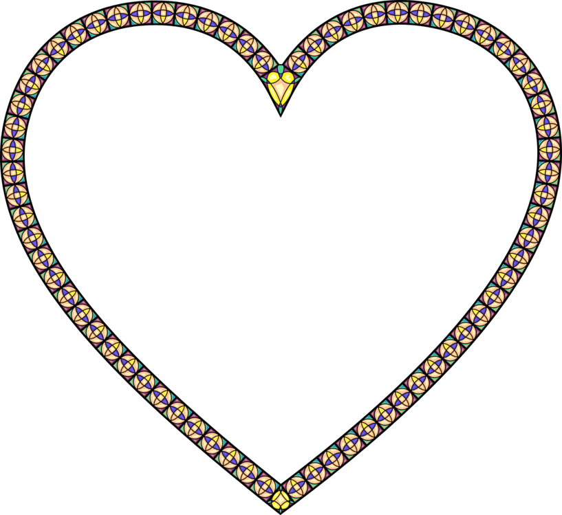 Heart,Yellow,Borders And Frames