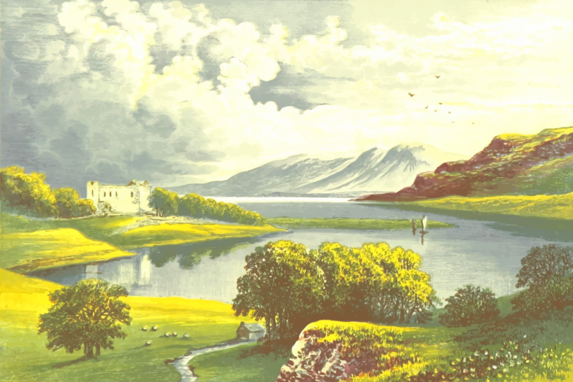 Mountain,Sky,Lake
