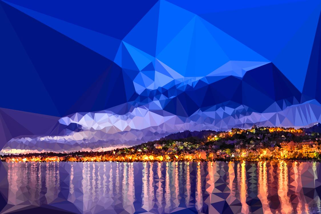 Blue,Mountain,Evening