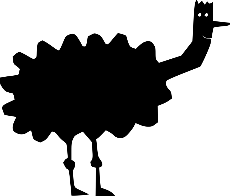 Silhouette,Bird,Common Ostrich