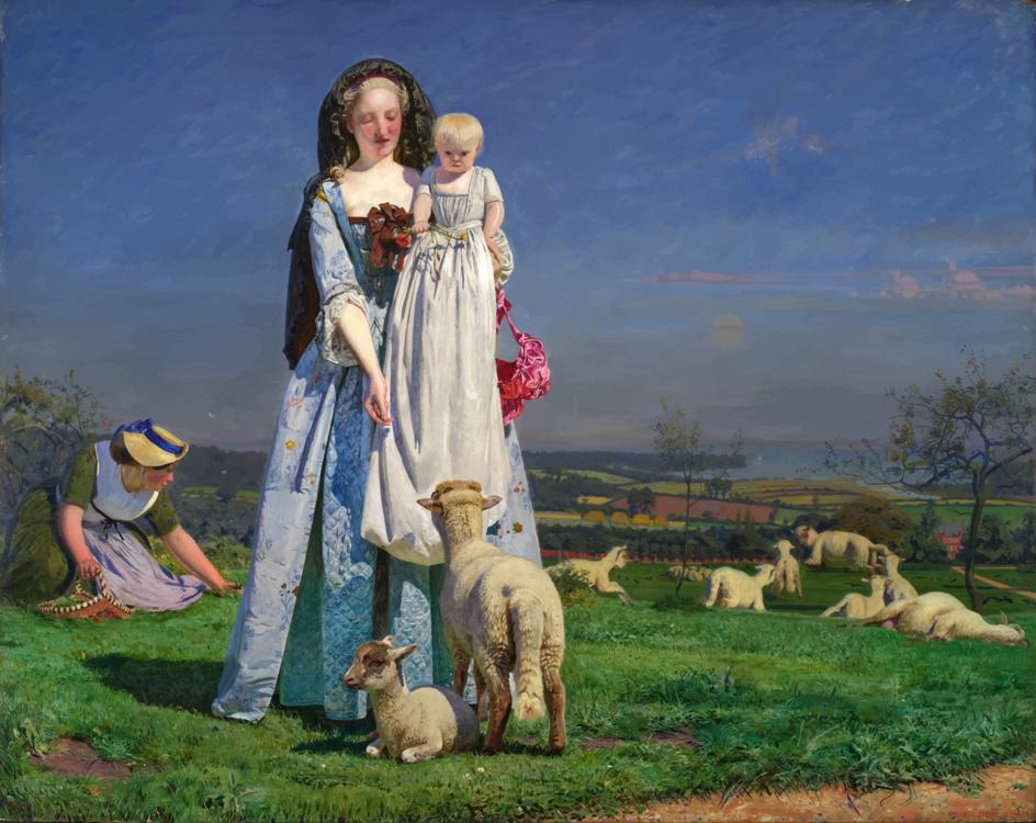 Shepherd,Art,Meadow