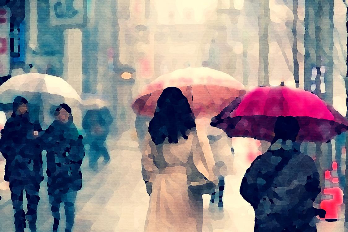 Watercolor Paint,Umbrella,Precipitation