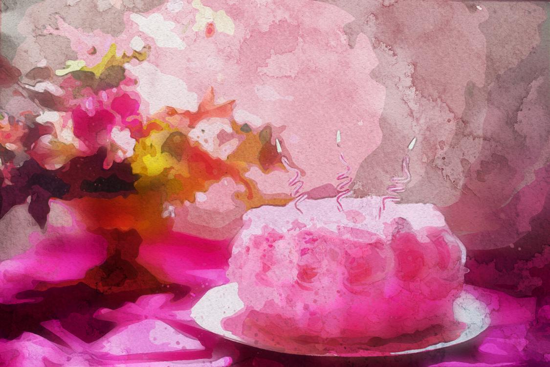 Pink,Watercolor Paint,Flower