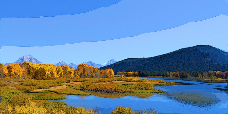 Natural Landscape,Nature,Reflection