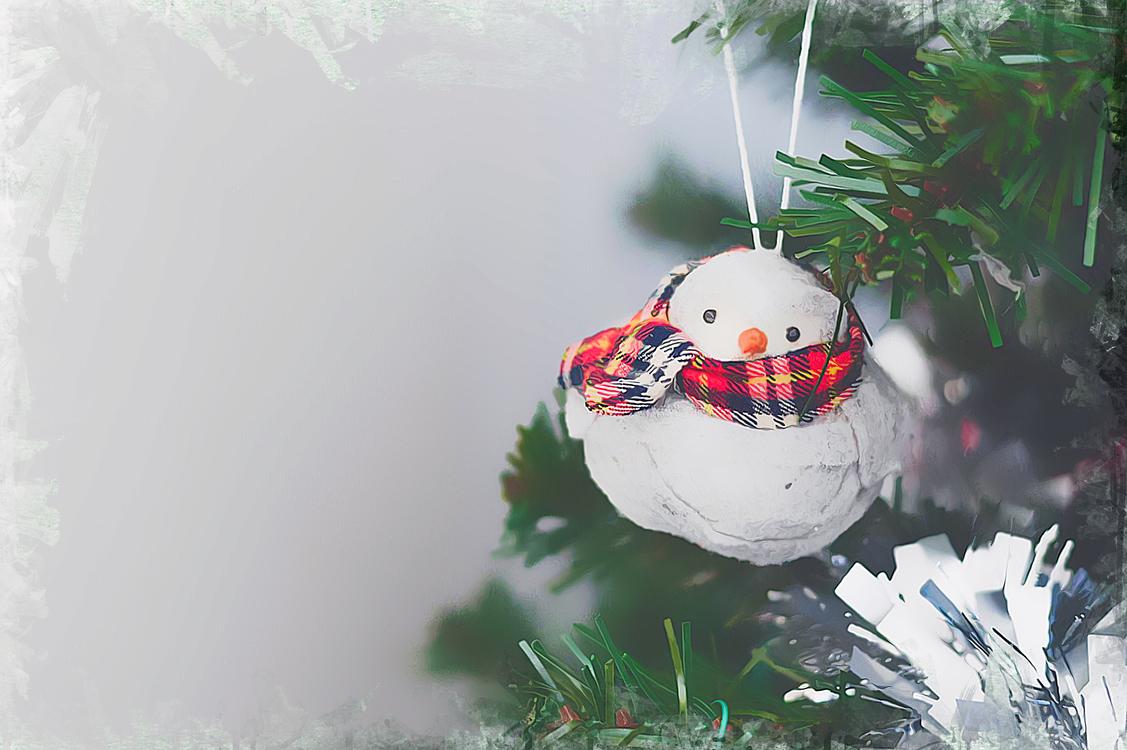 Snowman,Snow,Christmas Ornament