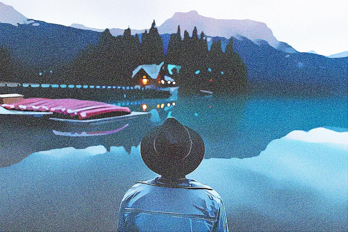 Reflection,Lake,Glacial Lake