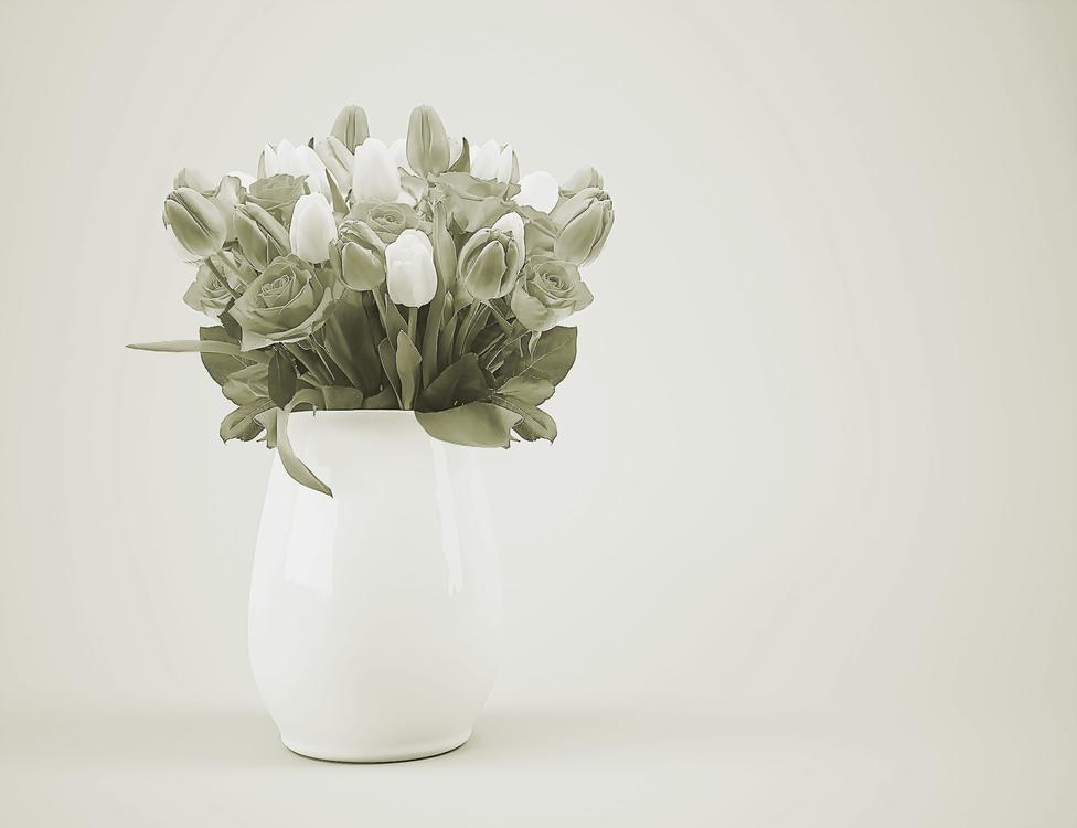 White,Vase,Flower