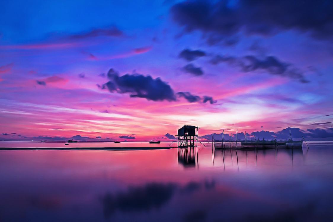 Sky,Afterglow,Nature