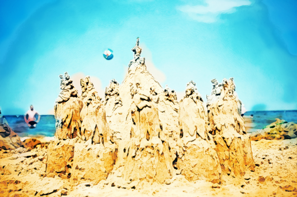 Sand,Sky,Rock