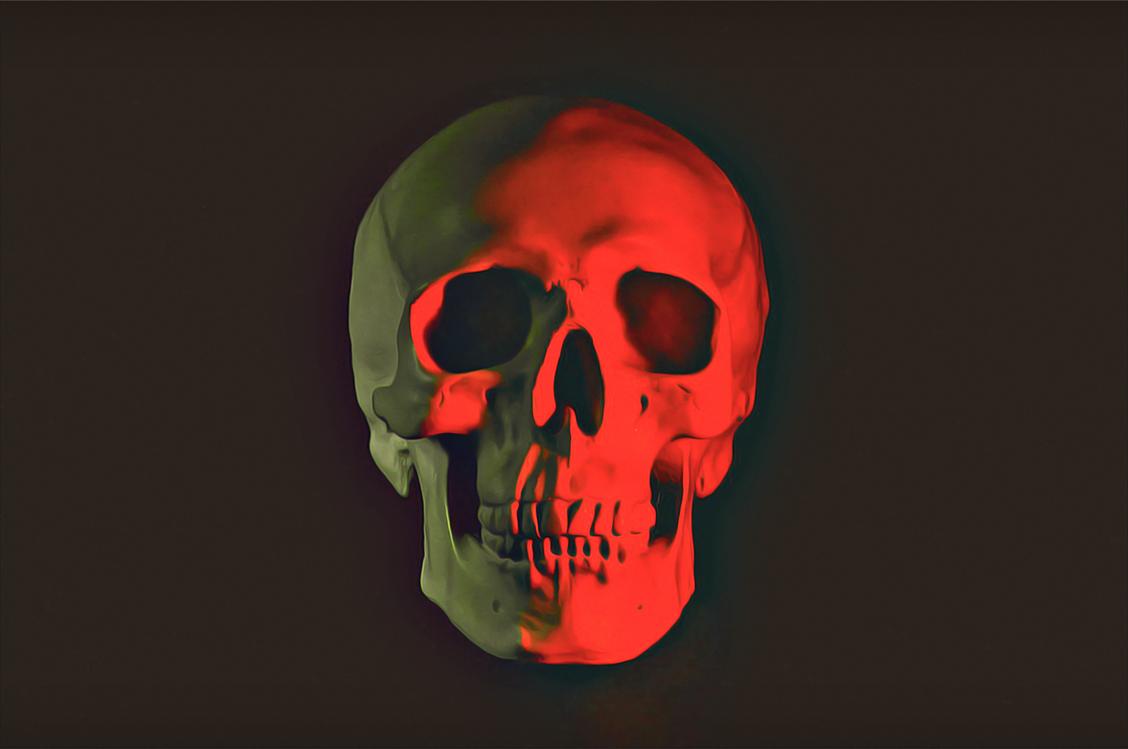 Skull,Bone,Red