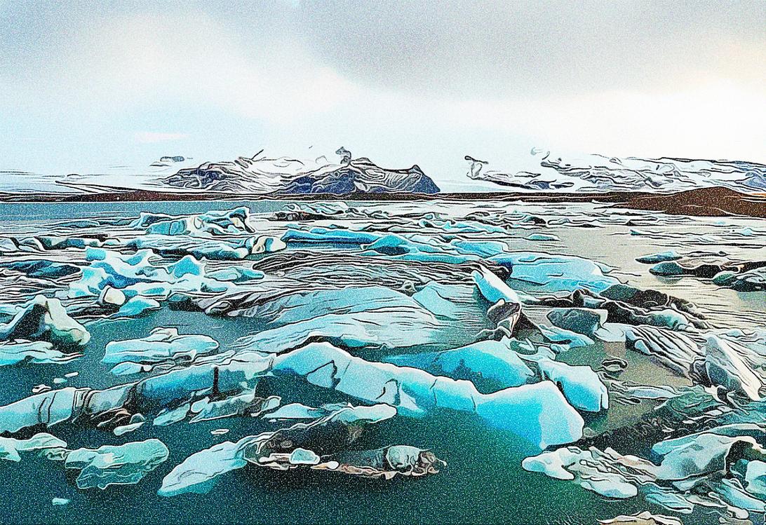 Glacial Lake,Ice,Iceberg