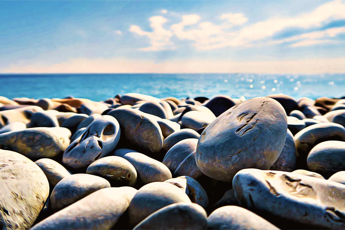 Pebble,Rock,Shore