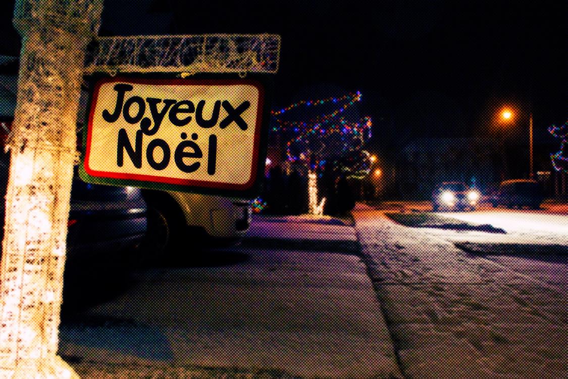 Night,Snow,Street Sign