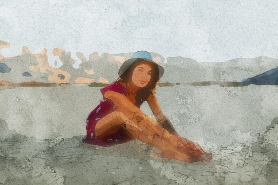 Beauty,Leg,Watercolor Paint