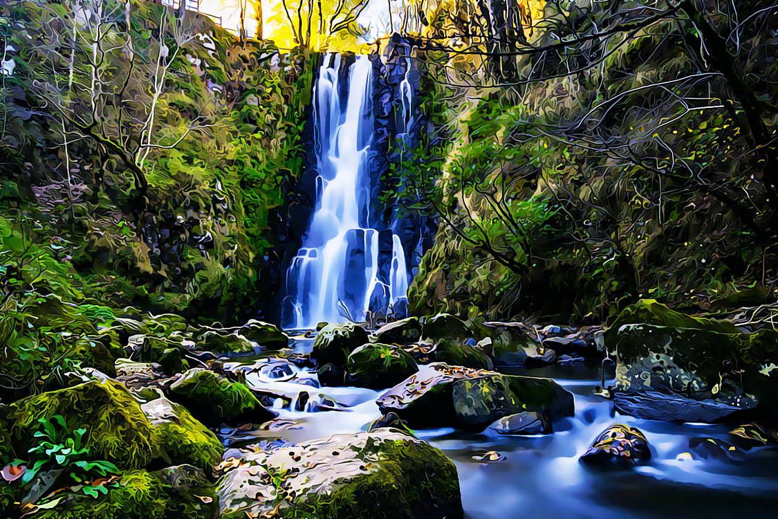 Waterfall,Body Of Water,Natural Landscape
