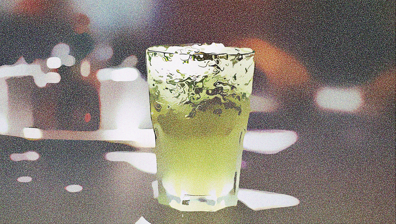 Green,Drink,Highball Glass