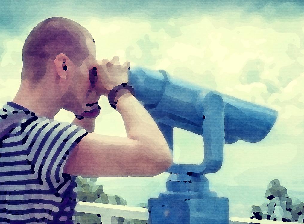 Sky,Water,Optical Instrument