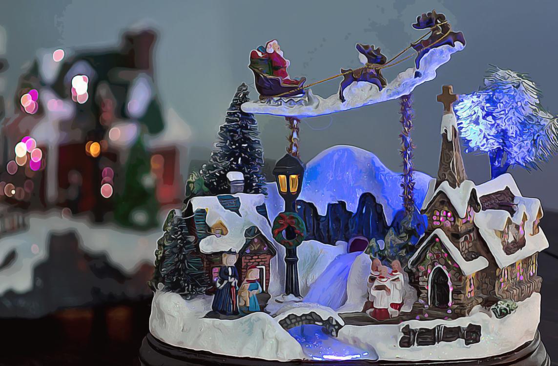 Nativity Scene,Snow,Winter