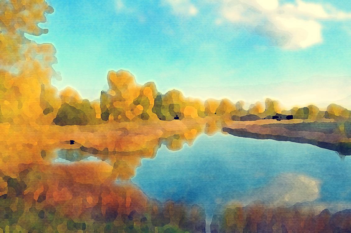 Natural Landscape,Nature,Watercolor Paint
