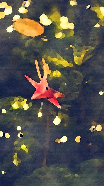 Painting,Leaf,Pond
